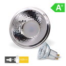 ES111 LED 2700K 6W GU10 450 lm + Reflektor Adapter MR16/GU10