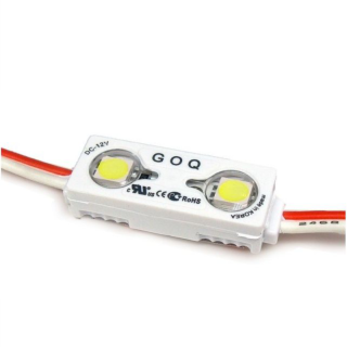 LED Modul MINI Samsung 12V 2x5630 SMD 150° IP68 | 0,48 Watt BLAU